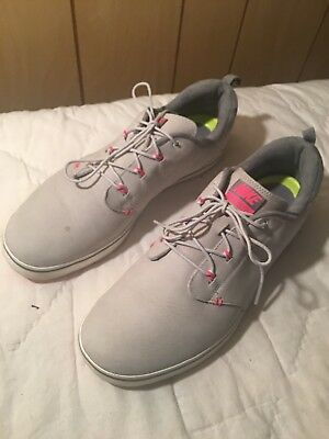 sale retailer db2fa be1d4 NIKE LUNAR ADAPT Spikeless GOLF SHOES Grey Pink White Womens 9.5 Good  Condition