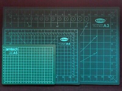 A3, A4 or A5 Cutting Mat Non Slip Printed Grid Lines Knife Board Craft Model