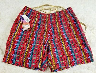 NEW Vtg 90s 80s Islander mens LOUD Neon Swim Trunk Board Short surf skate Large