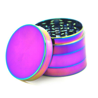 40mm Rainbow Spice Mill Tobacco Herb Grinder Stainless Steel Cylinder 4 V0O9T