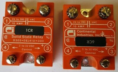 Continental Industries 10 Amp 280 Volt Solid State Relay 90 to 280 VAC Control