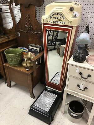 Coin Operated Weight & Fortune Mirrored Penny Scale by Watling Scale Co. Chicago