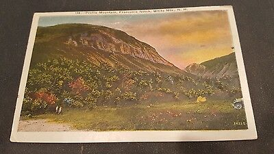 Vintage Postcard Profile Mountain,franconia Notch, White Mountains,nh.1941
