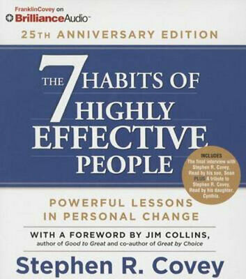 NEW The 7 Habits of Highly Effective People By Dr Stephen R Covey Audio CD