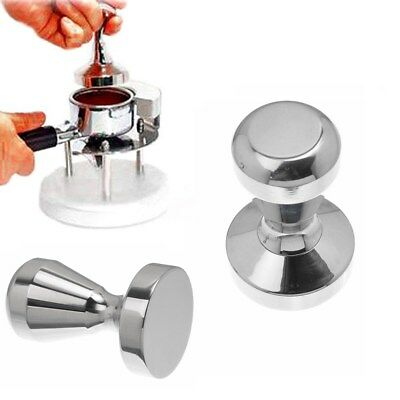Coffee Tamper Tampa Tamp Espresso Barista Press Manual Grinder Stainless Steel