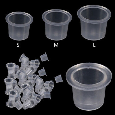 100Pcs Tattoo Ink Cups Caps Plastic Pots Pigment Tattoo Supplies 3 Size for You