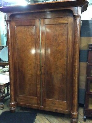 "Period Empire Two-Door Blind Door Cabinet, 88.5"" Tall"