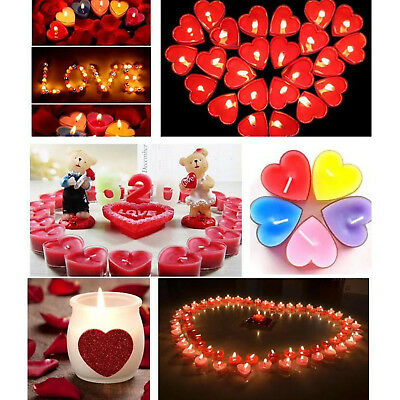 10Pcs/Set Heart Scented Candle Romantic Decoration Smokeless Valentine Candle