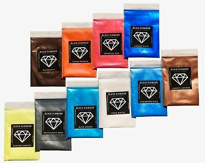 BLACK DIAMOND Mica Powdered Pigment  --  Variety Pack #1