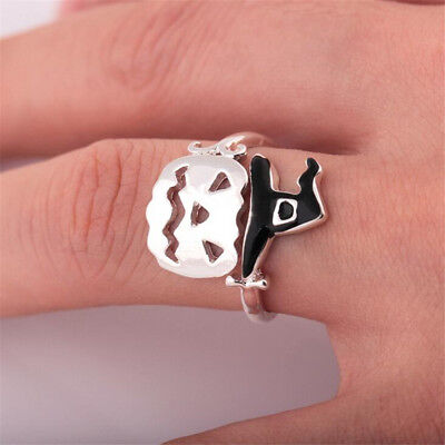 Cute Adjustable Witch Open Rings Halloween Pumpkin Finger Ring Women Gift