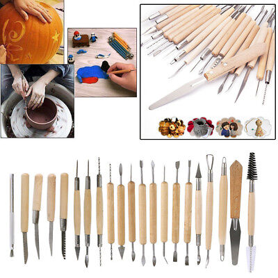22x Pottery Clay Sculpture Sculpting Carving Modelling Ceramic Hobby Tools Best