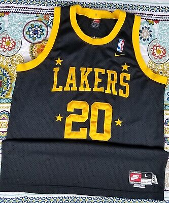 online store 6a84d 75ed8 LA LAKERS NIKE Gary Payton Swingman Basketball Jersey Sz L +2 1957 Throwback