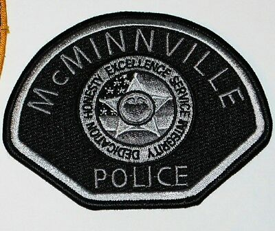 McMINNVILLE POLICE Oregon OR PD patch