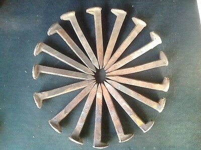 "17 Vintage Railroad Spikes Antique Blacksmith Train Track RR 6.5"" LOT OF 17"