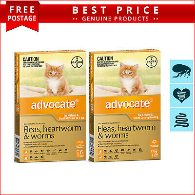 ADVOCATE 12 Doses + EXTRA 4 Doses for Cats Upto 4 Kg ORANGE by Bayer
