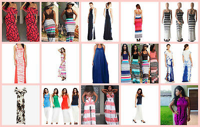 wholesale lot of 50 summer maxi beach party dresses women's fashions