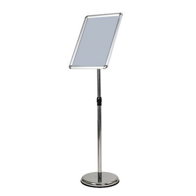 High Quality A3 Pedestal Sign Floor Stand Flexible 360°w/ Telescoping Post Silve
