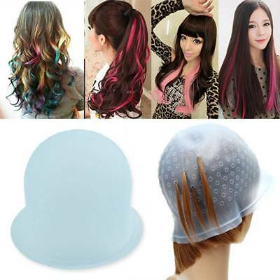 Professional Salon Reusable Hair Colouring Highlighting Dye Cap Hat Hook