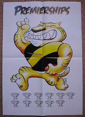 2018 HERALD SUN AFL RICHMOND TIGERS 11 PREMIERSHIPS GLOSSY POSTER -includes 2017