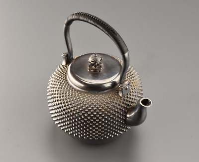 Japanese antique sterling silver Sencha Ginbin teapot 558gwith box chacha