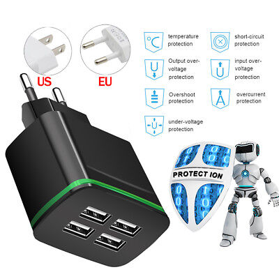 Universal 5V 4A USB 2/4 Port Quick Fast Charger Phone Wall Charger Power Adapter