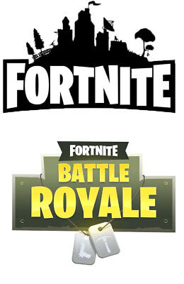 a5 fortnite silhouette and logo icing sheet cake toppers x 2 2 99