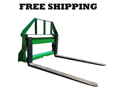 """48"""" John Deere Pallet Forks quick attach, powder coated green, FREE SHIPPING"""