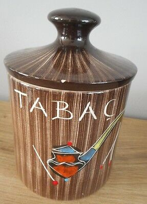 Pot a tabac en ceramique art deco