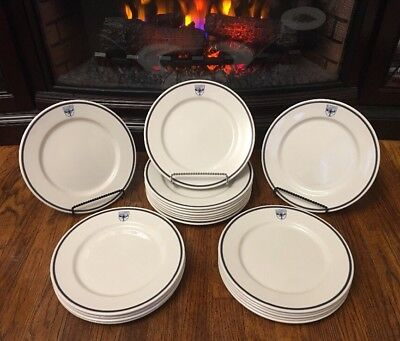 DUDSON Finest Vitrified Made In England 1800-2013 Lobster Logo Dinner Plate 10pc