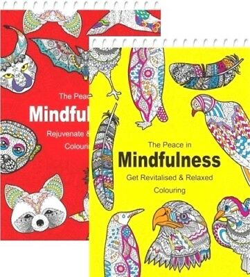 Mindfulness Colouring Spiral Pad High Detail For Adults Revitalised & Relaxed