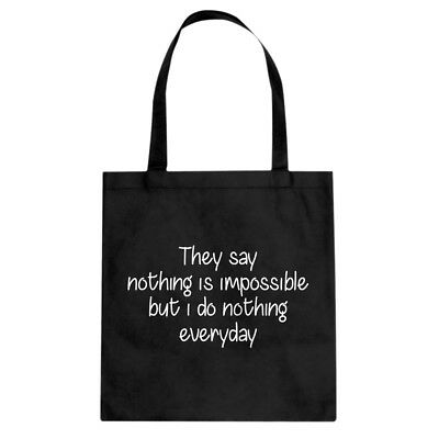 Nothing is Impossible Cotton Canvas Tote Bag #3674