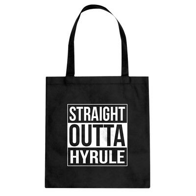 Straight Outta Hyrule Cotton Canvas Tote Bag #3659