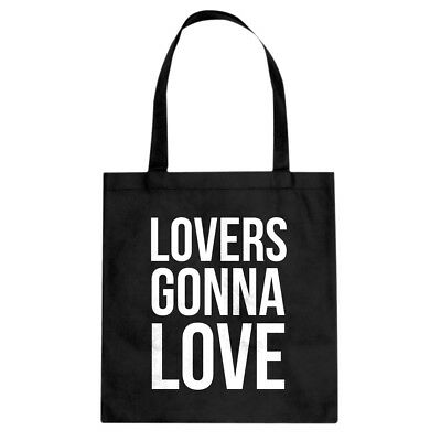 Lovers Gonna Love Cotton Canvas Tote Bag #3708