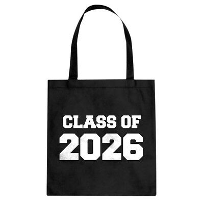 Class of 2026 Cotton Canvas Tote Bag #3735