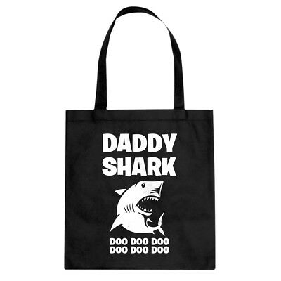 Daddy Shark Cotton Canvas Tote Bag #3757