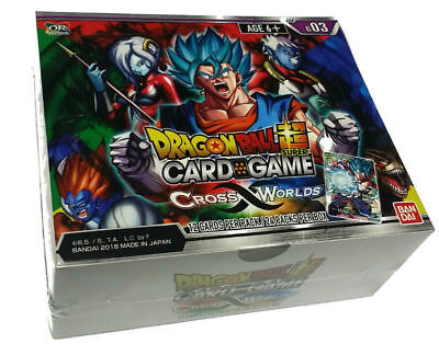 Dragon Ball Super Card Game: CROSS WORLDS Booster Box Sealed (24 Packs)