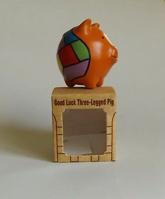 "Three Legged Good Luck Pig Figurine Chanchito From Chile New 2""H"