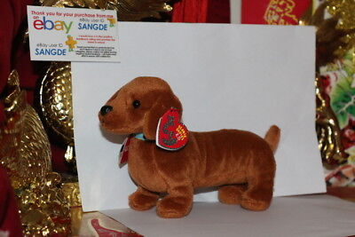 "Ty 2.0 Beanie Baby Frank The Dog-8.5"" Long-Unused Code-2009-Mwnmt-Nice Gift"