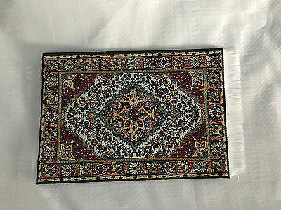 Dollhouse Miniature 1:12 scale woven Turkish Rug with Fringe