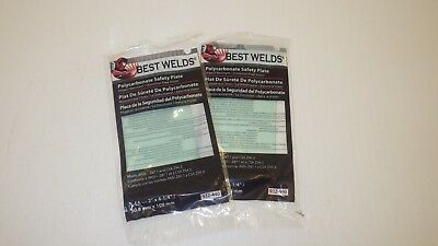 "BEST WELDS 932-440 POLYCARBONATE SAFETY PLATE 2"" x 4-1/4"", (LOT OF 2) NIB"