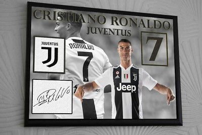 Ronaldo Juventus Signed Framed Canvas Print Great Gift