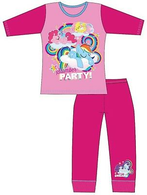 Kids Girls My Little Pony Pjs Pyjamas Sleepwear MLP Ages 18 Months 2 3 4 5 Years