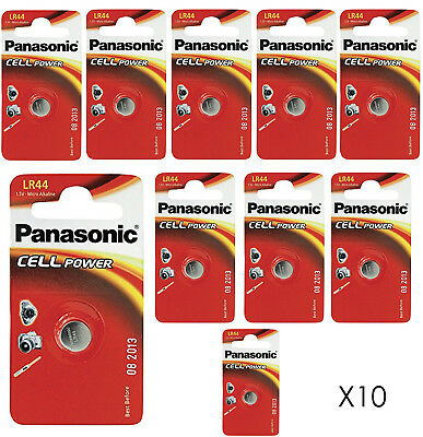 Genuine 10X Panasonic Lr44 1.5V Alkaline Button Cell Batteries Lr 44 A76 Hexbug