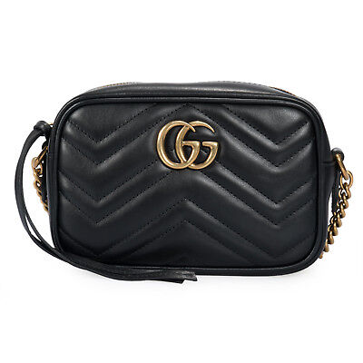 f5a356677 GUCCI CLASSIC GG Marmont Matelassé Leather Shoulder Mini Bag In ...