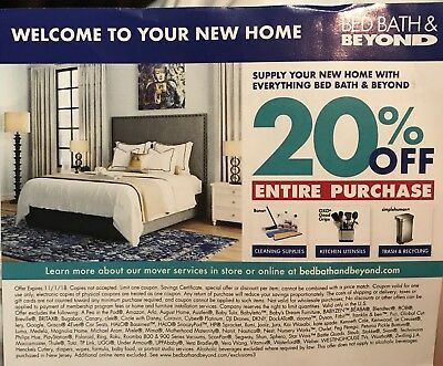 Bed Bath Beyond 20 Off Entire Purchase Coupon In And Online