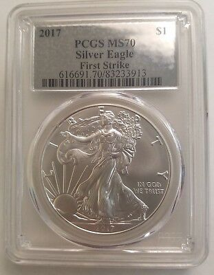 2017 American Silver Eagle US Mint $1 Coin PCGS MS 70 First Strike (9)