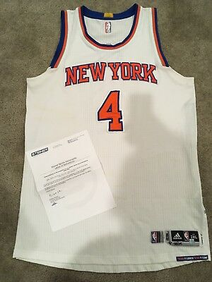 44164f3cb7a1 Quincy Acy New York Knicks Game Worn Game Used Jersey Steiner Coa Rev 30  Nets