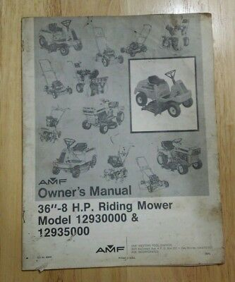 Vintage bolens handi ho lawn mower owners manual 1299 picclick amf 12930000 12935000 lawn mower owners manual vintage 8hp publicscrutiny Gallery