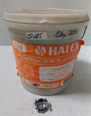 "Halex 3/8"" Contractor Bucket Of 200 Clamp Connectors 20518"