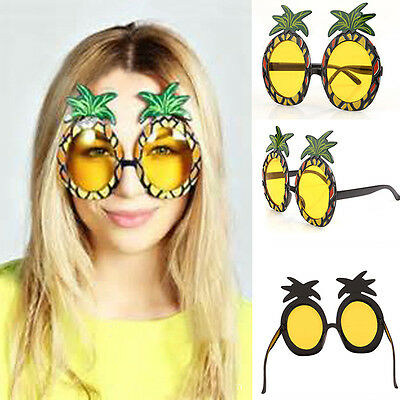 Ananas Sonnenbrille Brille Spaßbrille Partybrille Sommer Hawaii Party   A+